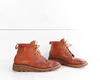 Vintage Gum Sole Chukka Boots Safari Style Boots