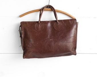 1970's Dark Brown Leather Attache' Briefcase