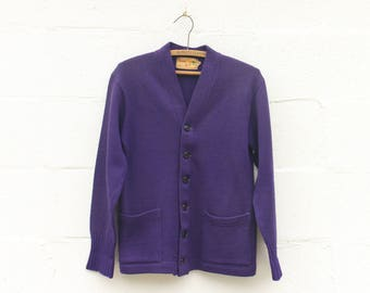 38 | Lamb Knit Goods Co. Purple Cardigan Sweater