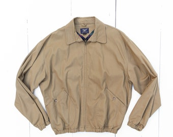 Willis & Geiger Khaki Zip Up Jacket size Large