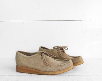 Women's Vintage Clark Wallabees Made in Republic of Ireland Tan Desert Boot Size 9