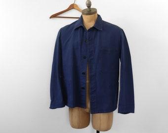Indigo Blue French Chore Jacket