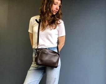 Vintage Coach Bag Small Brown Leather Cross Body Handbag