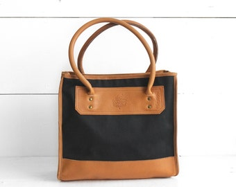 Gokey Canvas & Leather Tote Bag