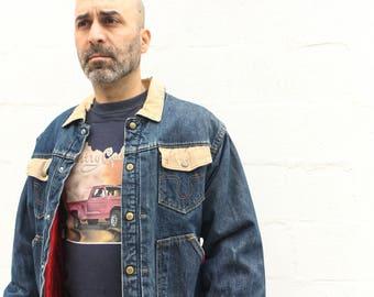 44 | MED/LRG | Buckaroo by Big Smith Lined Denim Jacket with Corduroy Collar