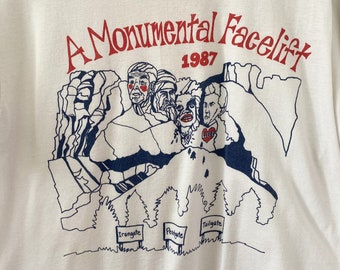 Vintage Margaret Thatcher T-Shirt 1987 A Monumental Face Lift