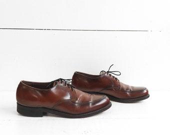 VTG Brown Leather Men's Derby Dress Shoes