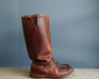 Vintage Gokey Botte Sauvage Snake Boots Distressed Boots