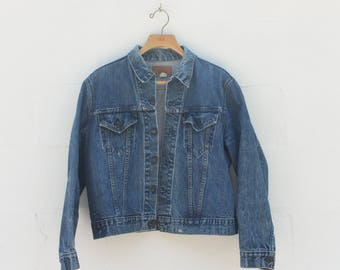 LRG | 1970's Levis Denim Jacket Classic Blue Denim Threads