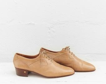 Pierre Cardin Vintage Men's Lace Up Oxfords Heeled Dress Shoes