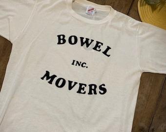 Bowel Movers Inc Funny Vintage T Shirt