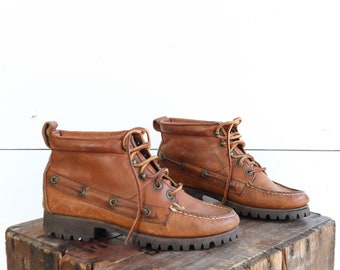 Ralph Lauren Brown Leather Hiking Boots