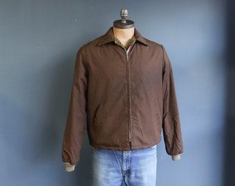 Brown Fleece Lined Light Weight Jacket