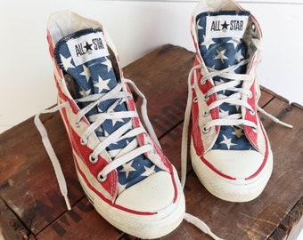 Made in USA Converse Chuck Taylor American Flag Print