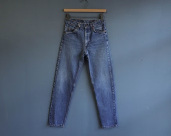 Nicely Faded Levis 505 Straights Orange Tab High Waist Jeans