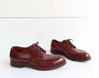 Vintage Tuff Tan Steel Toe Work Shoes