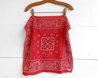 1960's Fast Color Red Bandana