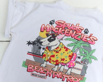 Spud Makenzie's Beach Patrol Bud Light T Shirt