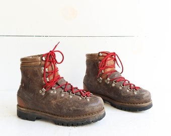 Vintage Hiking Boots Mountaineering Boots