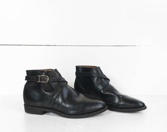 Vintage Chippewa Strap and Buckle Motorcycle Ankle Boots