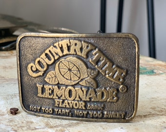 Vintage Country Time Lemonade Belt Buckle