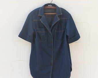 Levi's Orange Tab Denim Short Sleeve Shirt size XL