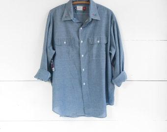 ca73eacb6 Men s Big Mac Embroidered Chambray Denim Shirt