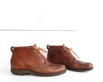 Vintage Gokey Leather Chukka Boot Ankle Moccasin Toe Boot
