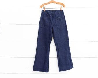 1990's Denim Utility Trousers Navy Dundagrees | 31 waist