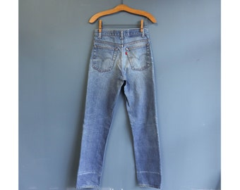 1970's Perfectly Faded Levi's High Waist Straights Denim Jeans