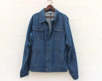 1970's Key Imperial Heavy Denim Chore Jacket Men's Work Wear