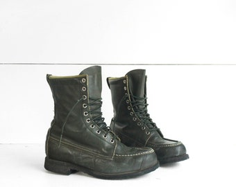 8 D | Men's Moc Toe Sports Boots by Browning