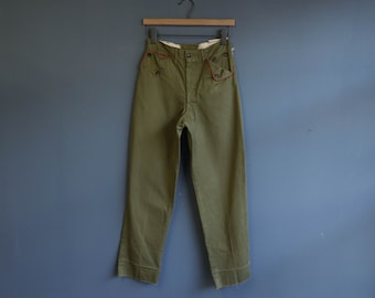 1960's Boy Scout Trousers with Red Trim