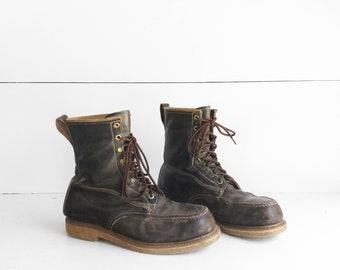 9 D | Men's HY TEST Steel Toe Work Boots