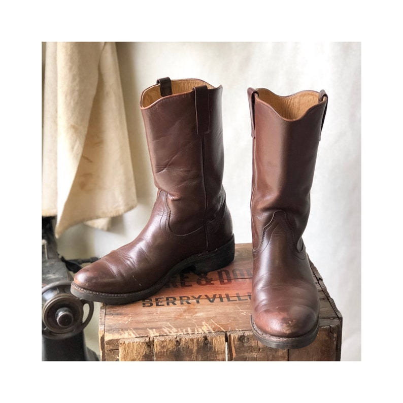 5e85993ee31 11 D Vintage Red Wing Western Pecos Boots Cowboy Styled Work