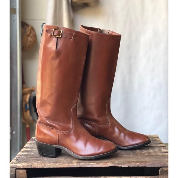 Bottes équitation marron en cuir Vintage Vintage Vintage Gokey taille 5 | De Haute Sécurité  b7bb58