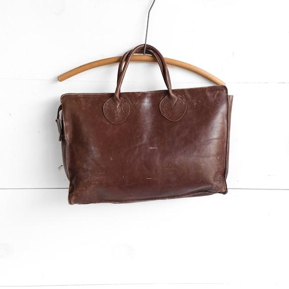 1970's Dark Brown Leather Attache' Briefcase