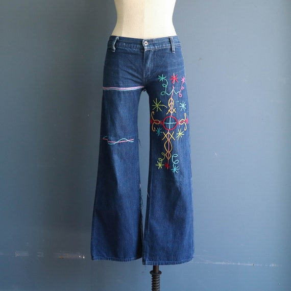 Vintage 1960s Women's Jeans | 1960s Hand Embroider