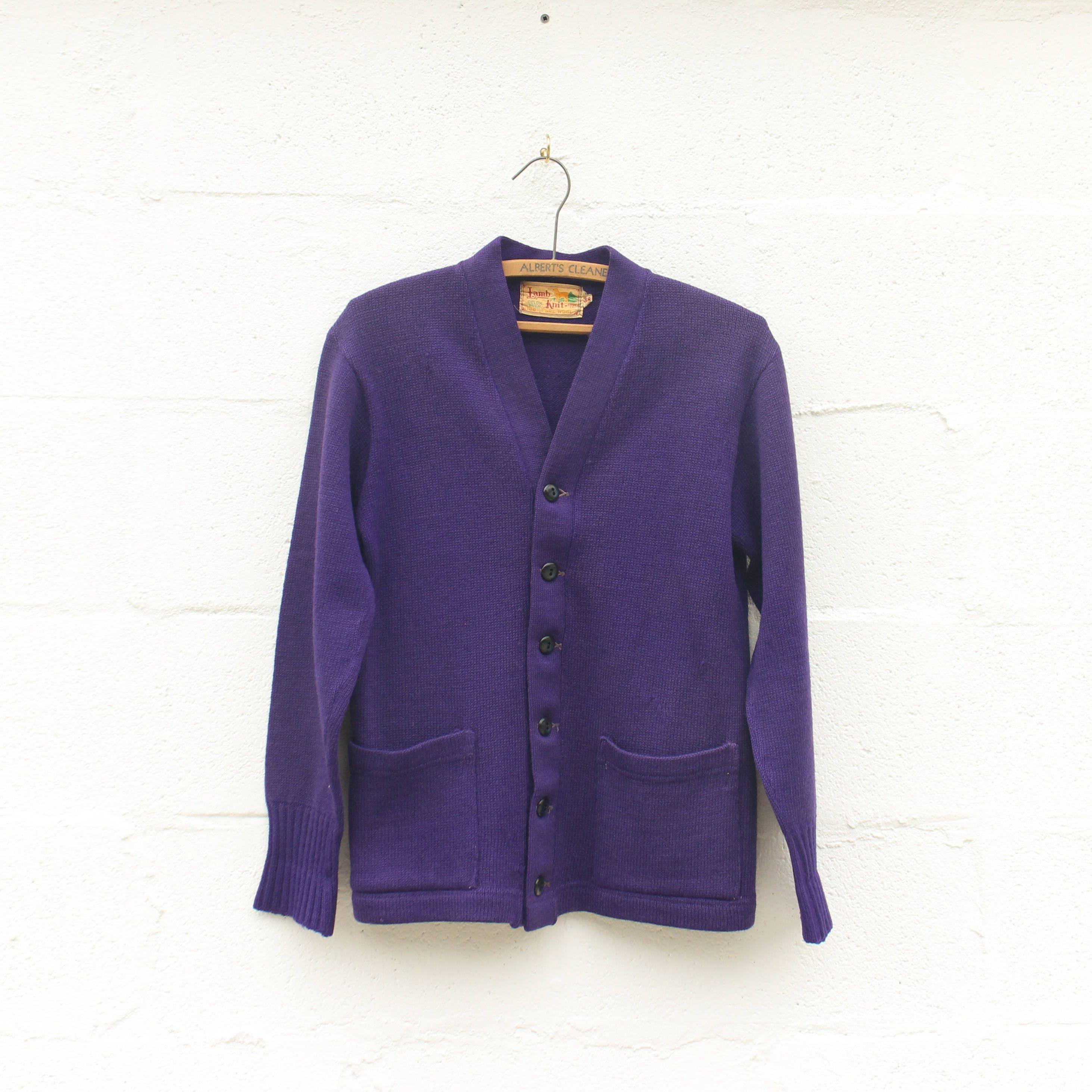 38 | | 38 Pull Cardigan violet en agneau tricot Goods Co. a9c228