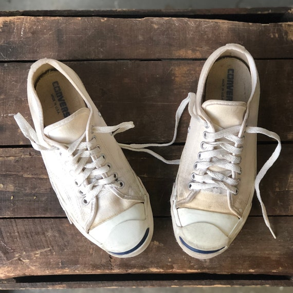 Jack Purcell Converse White Canvas Sneakers Made i