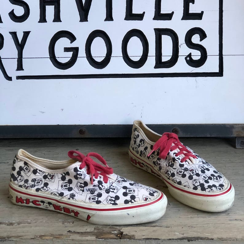 370194ea3c Vintage Mickey Mouse Vans Sneakers size 8 Women 6.5 Men