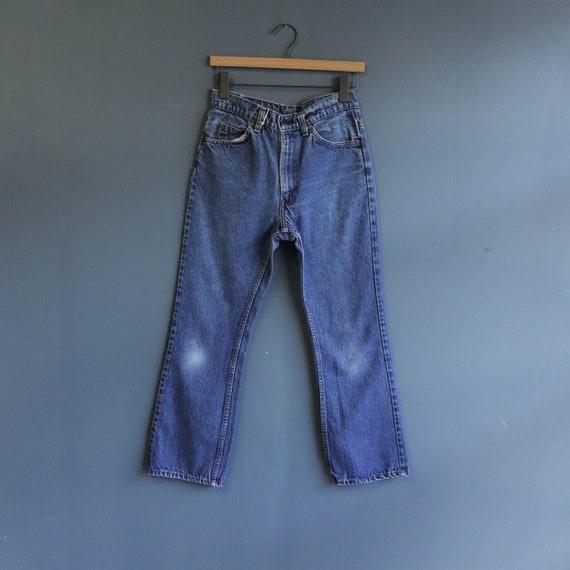 Levis 517 High Waist Orange Tab Denim Jeans