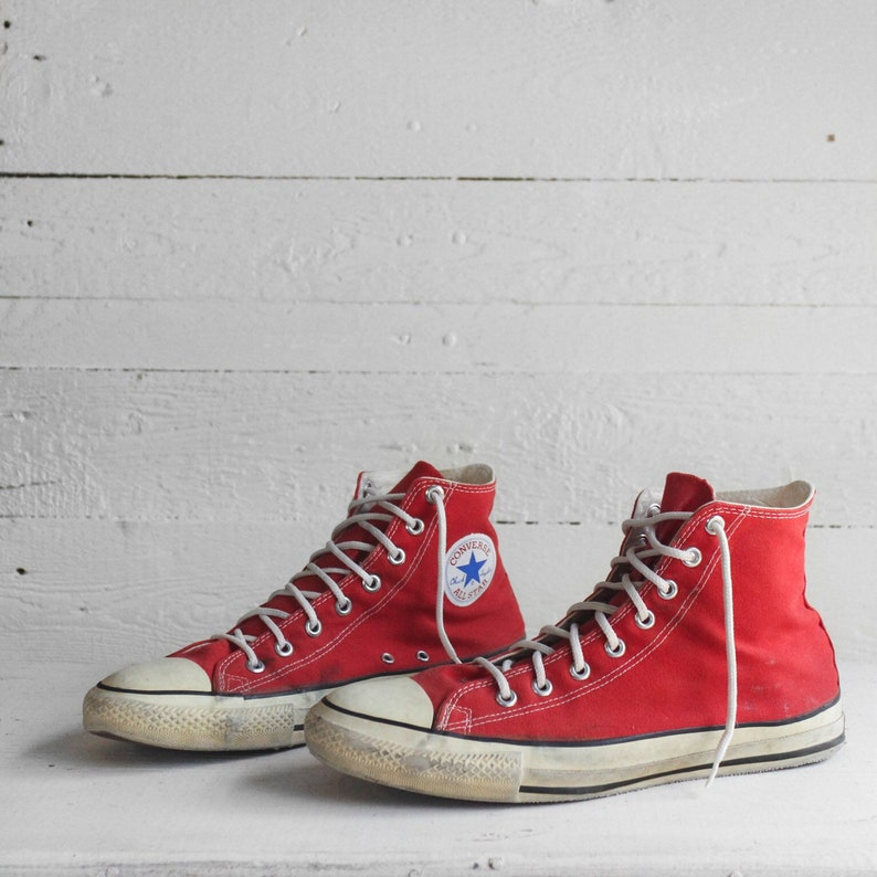 64e2b469ce5218 11 Vintage Converse Hi Tops Made in USA Red Chuck Taylors