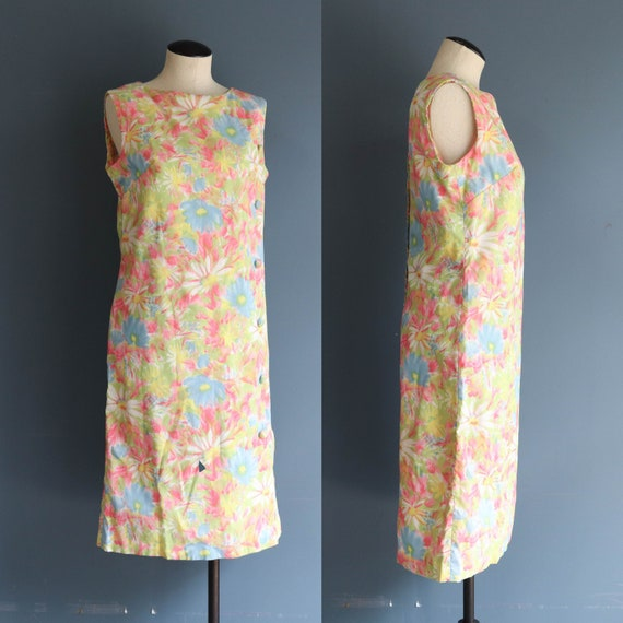 L'Aiglon Pastel Floral Sleeveless Dress