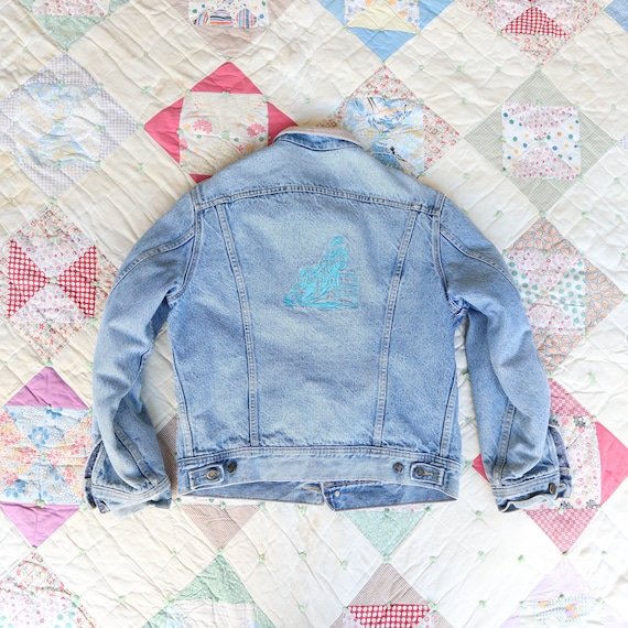1970's LEE Storm Riders Embroidered Rodeo Denim Ja