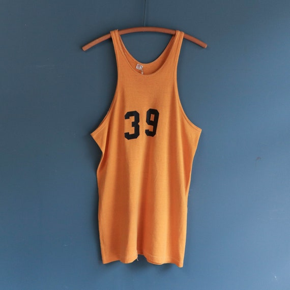 1950's Russell Southern Co. Yellow Basketball Jers