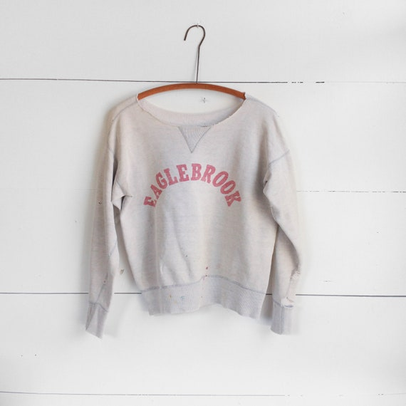 1950's Single V Stitch Thrashed Sweatshirt