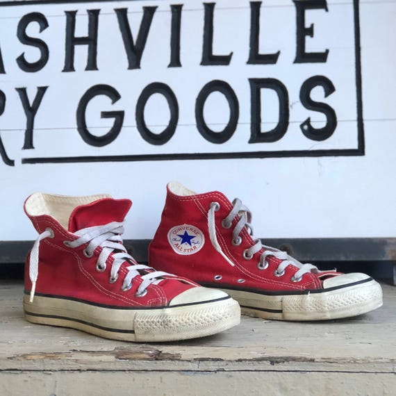 Vintage Red Converse Shoes size 5