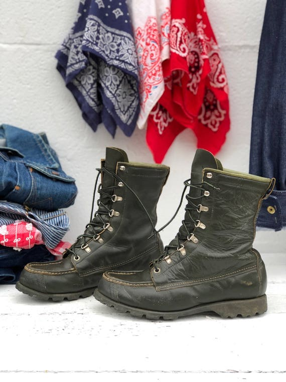 Frauen Moc Boots Green Stiefel Hunter Toe Sears Jagd Work Sportboote OPknwX8N0