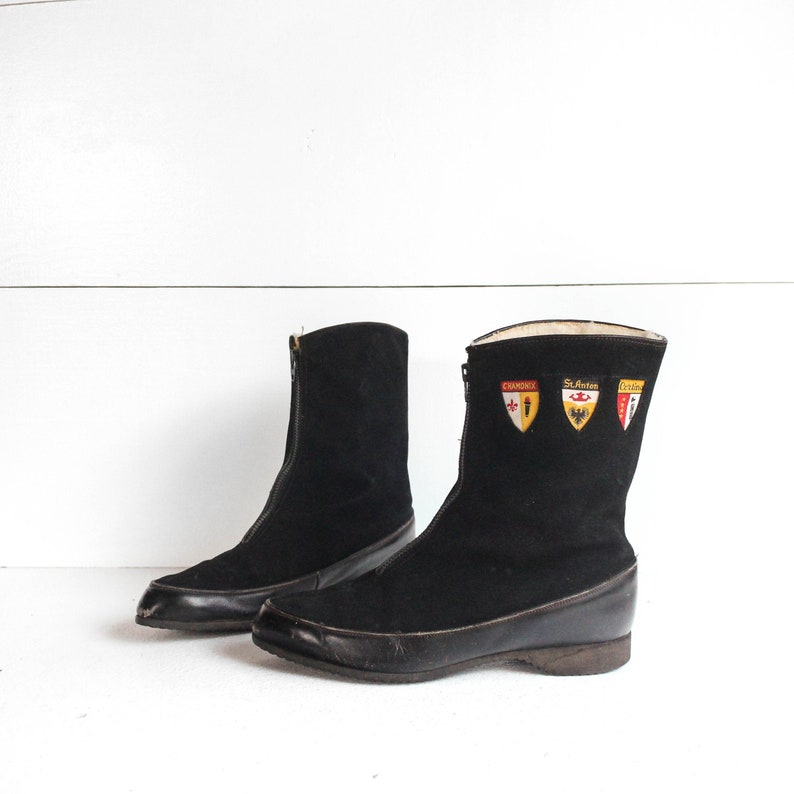 db60dd751b78d Women's 1960's Vintage Fleece Lined Winter Boots Sno-ettes by Holidays